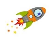 Fliegende Rakete Wandtattoo von Stickerscape - Wandaufkleber (Orange, Großes Größe)