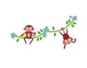 Dschungel Affen Rebe (Doppelt) Wandtattoo von Stickerscape - Wandaufkleber (Reguläres Größe)