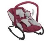 Komfort Baby Wippe Babywippe mit Spielbogen rot grau