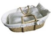 NEU Moseskorb Babykorb Reborn Tragekorb Beistellbett Stubenbettchen basket mit Wäscheset Moseskorb Moses