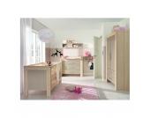 Komplett Kinderzimmer LASSE, 4-tlg. (Kinderbett, Kommode, Wickelaufsatz und 2-türiger Kleiderschrank), Esche/Sandgrau Gr. 70 x 140