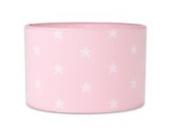 Baby's Only 914794 Lampenschirm Hängelampe Tischlampe Sterne gestrickt, 30 cm, rosa/weiß