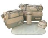 DAS ORIGINAL BOMIO® 5teiliges Baby Wickeltaschen-Set mit viel Stauraum Khaki