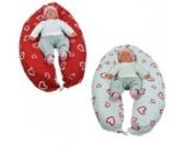 Stillkissen Lagerungskissen Seitenschläferkissen in verschiedenen Farben von HOBEA-Germany, Modell: Herzen rot weiß
