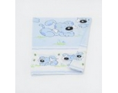 Kinderwagen-Deckenbezug ca. 80x70 Deckenbezug für Stubenwagen Babywiege (Muster: Hund mit Knochen_puderblau)