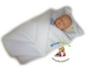 BlueberryShop Warm Velours mit Kissen Wickeldecke Decke Schlafsack für Neugeborene, Baby Shower GESCHENK, 100% Baumwolle ( 0-3m ) ( 78 x 78 cm ) Weiß