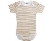 Liliput Body Kurzarm Gestreift Gr. 62/68 (Beige-Weiß) [Babykleidung]