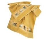 Kinderbutt Frottier-Set 3-tlg. inkl. Bestickung Frottier gelb Größe 70x110 cm + 50x70 cm + 15x21 cm