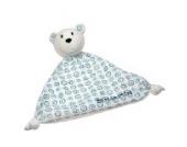 Schnuffeltuch Eisbär Finn Schnuffel mit Bestickung - von STEINER - Kuscheltier handgefertigt | Schmuse-Tuch für Mädchen &Jungen | Baby-Tröster Spielzeug | Geschenk-Idee Weihnachten
