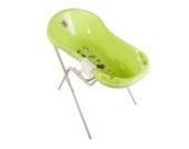 Hippo grün Baby Badewanne XXL 100 cm + Badewannenständer + Waschhandschuh