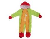 Baby Schneeanzug mit Kapuze, Giraffe, Bunt (0-3 Monate (50-56)) (Limette/Orange)