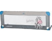 Caretero Safari Bettgitter, leicht, tragbar mit Klappfunktion, 120 x 40 cm, Grau