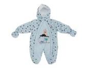 Baby Schneeanzug mit Kapuze, Dinosaurier und Vulkan (0-3 Monate (56)) (Blau)
