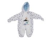 Baby Schneeanzug mit Kapuze, Dinosaurier und Vulkan (0-3 Monate (56)) (Weiß)