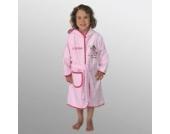 Bademantel mit Namen Prinzessin rosa-pink Größe 110/116