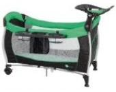 Reisebett Holiday 39 mit Wickelauflage und Moskitonetz von UNITED-KIDS Farbe schwarz-grün, Farbe:Schwarz-Grün