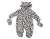 Baby Schneeanzug mit Kapuze und Knöpfen, Schneeleopard (Neugeborene) (Schneeleopard)