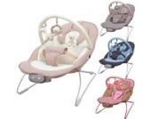 Babywippe Babytrage Schaukel Babyschaukel Schaukelsitz Babywiege mit Spielbogen und 3-stufiger Vibrationsfunktion & 12 Melodien in vier verschiedenen Farben (Blue / Brown)