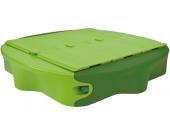 BIG Sandkasten Sandy mit Abdeckplatten (Grün) [Kinderspielzeug]