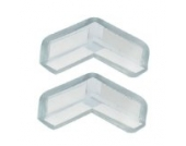Eckenschutz, weich, aus Kunststoff, transparent Blau