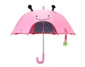 Skip Hop Zoo Regenschirm, für Kinder, mit Sichtfenster und 3D-Ohren, mehrfarbig, Marienkäfer Livie