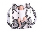 Pomfitis A1234 Mitata Co Baby Sleeper Kinderbetten Babybetten Körbe Reisebetten Reisebett Stubenwagen, schwarz/weiß-druck