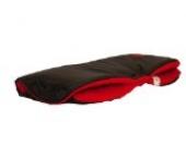 Kinderwagen Handwärmer Muff mit Fleece-Innenseite, eine Größe für Kinderwagen, Buggy, Fahrradanhänger. Schwarz - Rot
