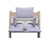 Blausberg Baby - Sitzkissen Kissen Polster Set für Stokke Tripp Trapp Hochstuhl- Einheitsgröße, Chevron (Zickzack) Lila