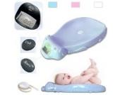 Todeco - Babywaage, Elektrische Babywaage - Größe: 65,4 x 33,2 x 11,6 cm - Maximale Belastbarkeit: 20 kg - Blau