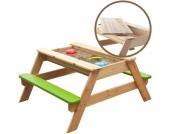 Sun Kindersitzgarnitur mit Sandkasten Freddy 2in1 (Natur-Gr�n) [Kinderspielzeug]