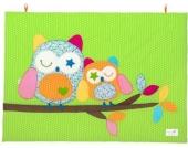 Odenwälder Krabbeldecke ´´Heddy´´ Tupfen limette 100/135