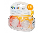 Philips Avent Schnuller SCF170/22 Freeflow transparent 6 - 18 Monate 2 Stück