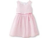 Ashley Ann Baby Sommer Kinder Mädchen Kleid rosa weiß Punkte 98