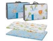 Reisebettmatratze TRAVEL 120x60cm (+Tragetasche) für Baby Reisebett / Kinder Bett (Dschungel Weiß)