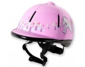 RED HORSE Kinder Sicherheitsreithelm RIDER, pink Gr. 48-52 Mädchen Kleinkinder