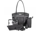Wickeltasche Glitter Bag, schwarz