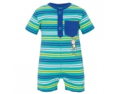 s.OLIVER Boys Baby Overall blue-green stripes - Jungen