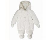 Kanz Teddyplüsch Overall, weiß - Gr.Newborn (0 - 6 Monate) - Unisex