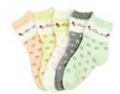 Luckystaryuan ® Set von 5 Mädchen Socken Frühling Herbst Schöne Socke Geschenk für Tochter (2.5-4 Jahre)