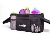 BooBoo Kingerwagen Deluxe Stroller Organizer von Baybino – Tasche mit Getränkehalter für Kinderwagen und Buggy (Blau)