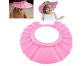 ChannelExpert pink Weich Sicher Baby Dusche Badeschutz Shampoo Kappe Schild Hut Schutz Sichere Shampoo-Dusche Bade Bad Schützen Weiche Mütze Hut für Baby Kind
