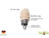 BabyBubu - Feder bis 16kg - inkl. Sicherheitsseil, Baumwoll-Federcover & 2x Karabiner für Federwiegen, Babywippen, Babyhängematten, Hängewiegen, Babywiegen oder Babyschaukel   swingt sehr weich - nur 18cm lang   langlebig (über 10 Mio. Hübe)   Herges