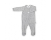 Bemini by Baby Boum 563STAR195TM Schlafstrampler, 0 - 3 Monate Jersey - Baumwolle, 95 mixed grey