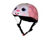kiddimoto® Helm Design Sport, Pink Bunny/Nutella - Gr. S, 48-53cm