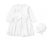Baby Set aus Taufkleid + Mütze JOHANNA Gr. 68 Mädchen Baby