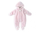 Highdas Baby Overall aus Fleece Strampler Neu geboren Unisex Schlafanzug Samt Baumwolle Fleeceanzug Footed Schneeanzug Winter Jumpsuit
