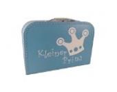 Pappkoffer blau Kleiner Prinz Krone 30 cm