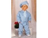 SWEET MOMENT`s Nr. 201.1 EDLER Taufanzug Smoking Anzug-Set 6-teilig BLEU Gr��e 62-104