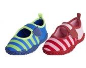 PLAYSHOES Badeschuhe mit UV-Schutz-Aqua-Schuh BLAU mit Streifen Gr��e 24/25-34/35
