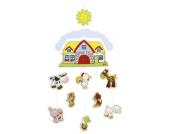 Goki Holzmobile Omas Bauernhof [Babyspielzeug]